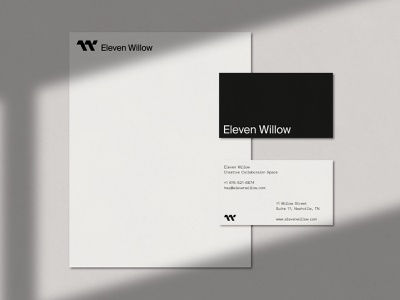 Eleven Willow - Print identity letter head business cards print design typography branding logo design logo