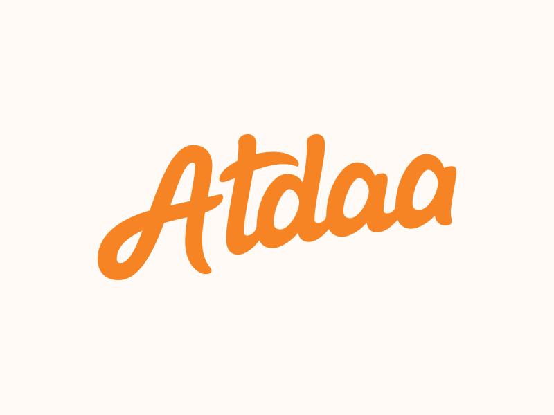 Atdaa - Final Logotype word mark custom lettering custom type logo design hand lettering process lettering branding typography logo logotype