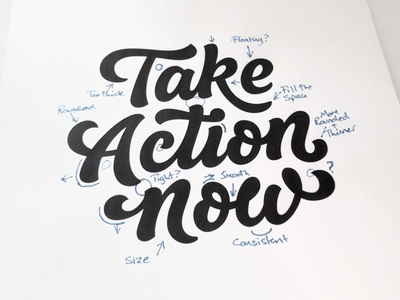 Take Action Now- Process word mark custom lettering custom type logo design hand lettering process lettering branding typography logo logotype