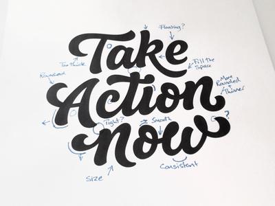 Take Action Now- Process word mark custom lettering custom type logo design hand lettering process lettering branding typography logo logotype