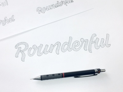 Rounderful - Final Sketch word mark custom lettering custom type logo design hand lettering process lettering branding typography logo logotype