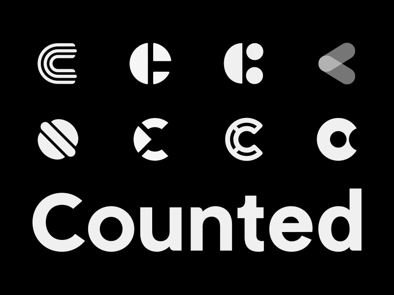 Counted Logo Variations logo mark logo design simple fun diet nutrition counted logo logotype