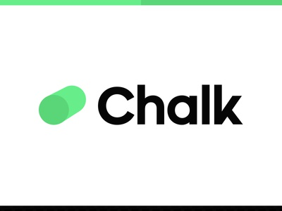 Chalk Logo Concept logo design note taking custom type icon wordmark chalk type logo logotype
