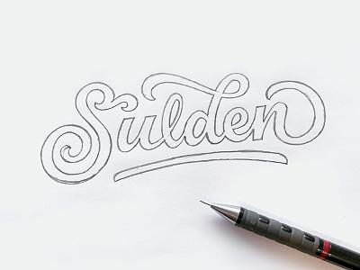 Sulden - Sketch logo design motorcycles hand lettering wordmark sulden type lettering logo logotype