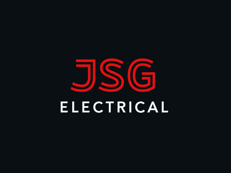 JSG logo design custom type electrical wordmark jsg type lettering logo logotype
