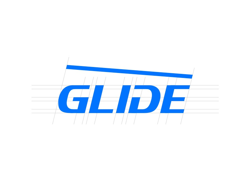Glide Snowsports logo design custom type snow wordmark ski snowsports type lettering logo logotype