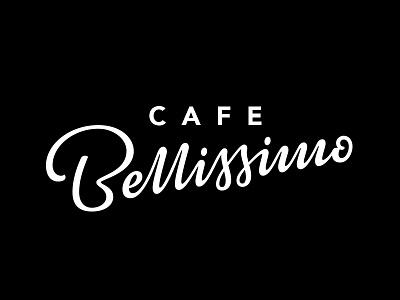 Cafe Bellissimo WIP logo design hand lettering wordmark elegant bellissimo cafe type lettering logo logotype