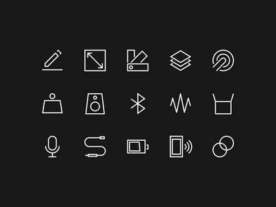 B&O Icons icon design ui specs outline minimal iconography icons