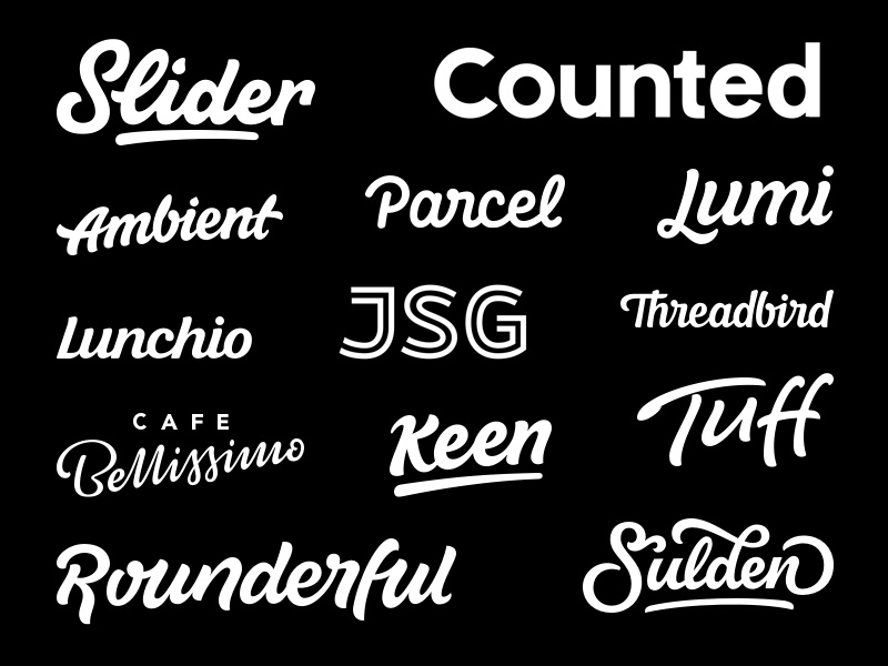 Lettering collection dribbble shot