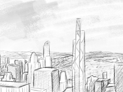 New York pencil drawing sketch storyboard