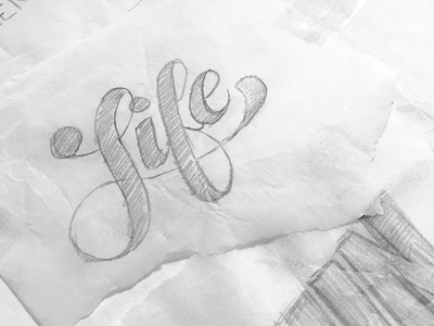 Life Should Be Fun drawing sketch hand lettering