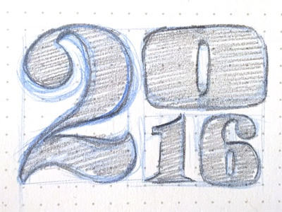 2016 pencil drawing sketch lettering