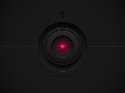Recording ui user interface audio recording button light music