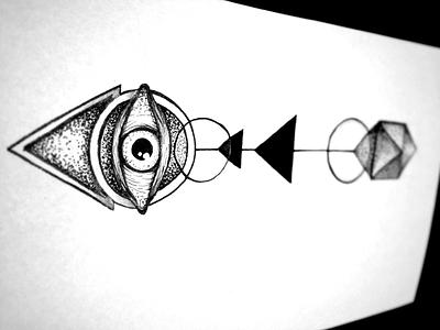 Abstract Tattoo tattoo abstract illustration eye arrow minimal ballpoint