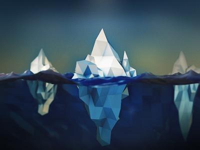 ICE.bergs ice iceberg c4d cinema4d cinema low-poly lowpoly poly ocean