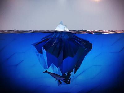 ice.BERG ice iceberg c4d cinema4d cinema low-poly lowpoly poly ocean wale
