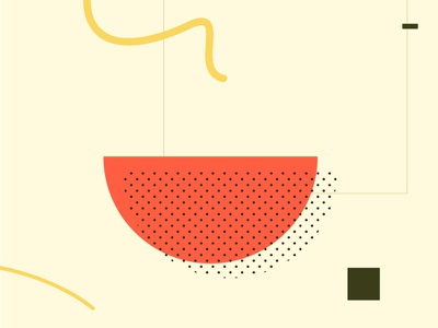 Ramen food shapes geometry abstract ramen flat illustration