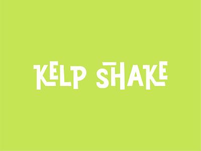 Kelp Shake Logo cartoon type spongebob brand identity logo typography lettering
