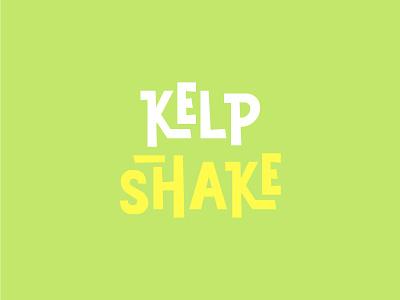 Kelp Shake Logo Stacked spongebob typography logo lettering identity branding