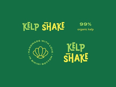 Kelp Shake Assets cartoon type typography assets logo spongebob lettering identity branding