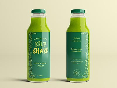 Kelp Shake Smoothie design cartoon smoothie juice bottle packaging label spongebob logo branding