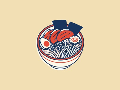 Ramen retro halftones vector illustration food ramen japanese