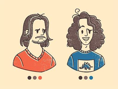 Game Grumps avatar vector portraits texture halftones cartoon character fan art commission illustration retro