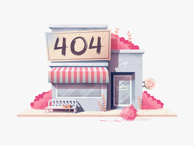 404 Cafe invision 404 page cat error 404 404 texture design vector illustration