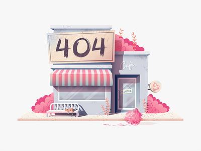 404 Cafe invision 404 page cat error 404 404 texture design vector illustration