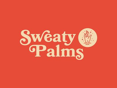 Sweaty Palms sweaty palms hand branding identity illustration vector logo retro