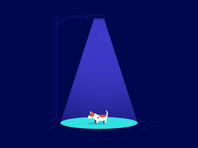 A • 36 Days of Type vector 2d motion graphics night animation illustration dog alien abduction 36 days of type