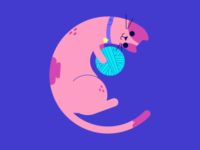 C • 36 Days of Type 36 days of type typography cat motion graphics animation 2d vector illustration
