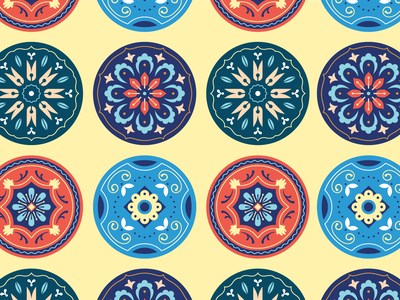 Florals abstract flowers geometric symmetry floral vector design illustration