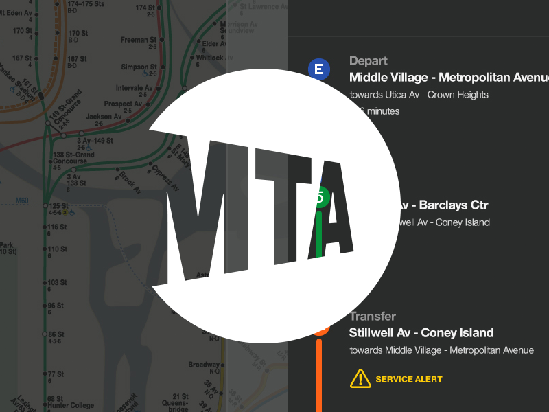 MTA Digital Wayfinding System mta subway nyc helvetica map maps route kiosk new york