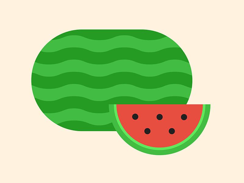 Watermelon watermelon illustration
