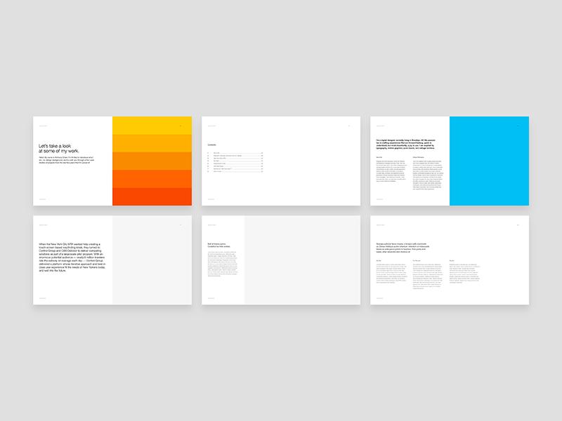 Working on my Portfolio template indesign grid portfolio helvetica layout print self promo swiss typography