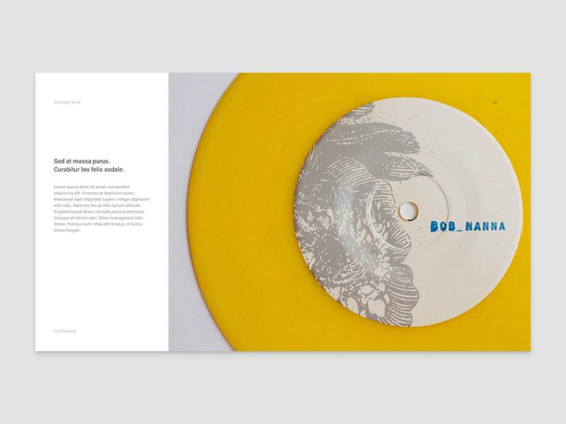 Portfolio, project detail page swiss portfolio typography roboto layout grid self promo print