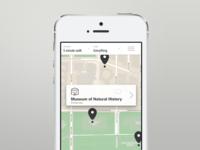 Transit app, wayfinding