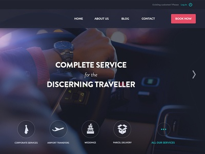 Chauffeur Service landing page