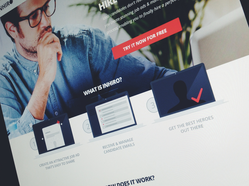 Landing page process landing page sign up