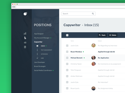 Positions - revisited email candidates work in progress job application applicant tracking system