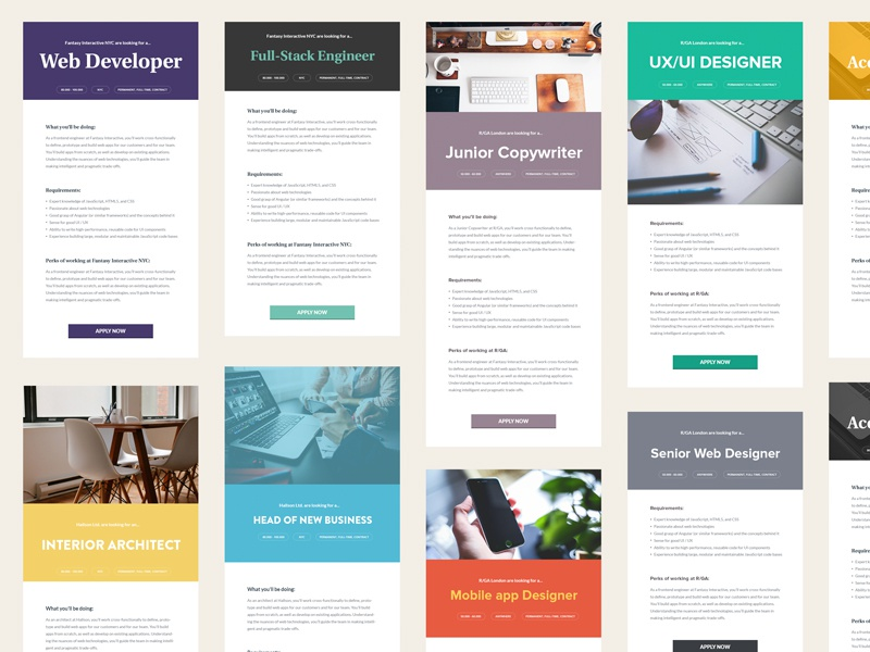 Minimalistic Job Ads job template styles inhiro job description
