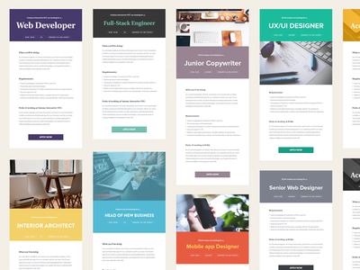 Minimalistic Job Ads job template styles inhiro job description
