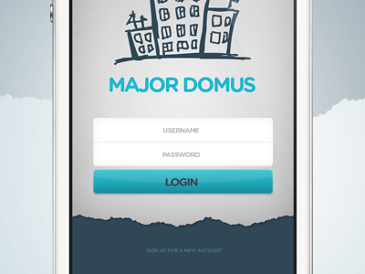 Major Domus / Login Screen iphone house login signup