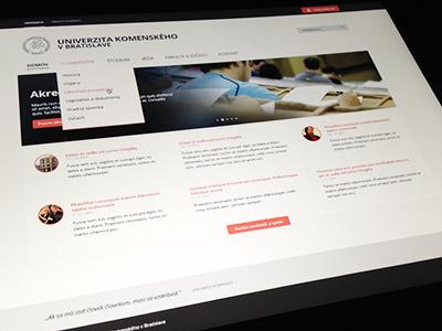 Homepage university homepage navigation image slider