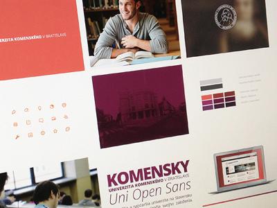 Univerzita Sheet artboard colours typeface moodboard university