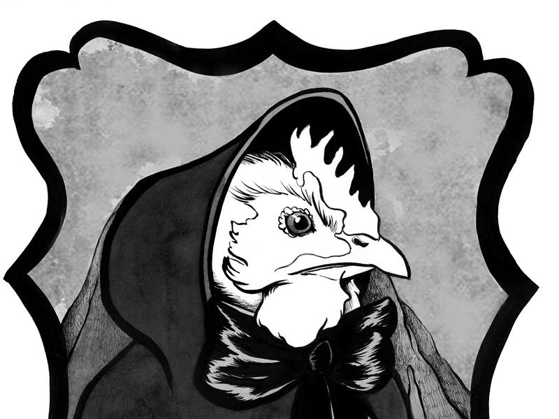 The Widow chicken animals comics ink