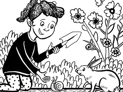 Dig A Hole rabbit kids comics
