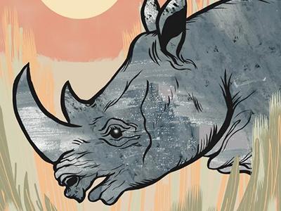 Rhinos Forever, detail rhino conservation wildlife