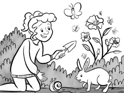 Backyard ink backyard children illustration nature kids wildlife conservation animals comics